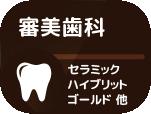 審美歯科(セラミック・ハイブリット・ゴールド)